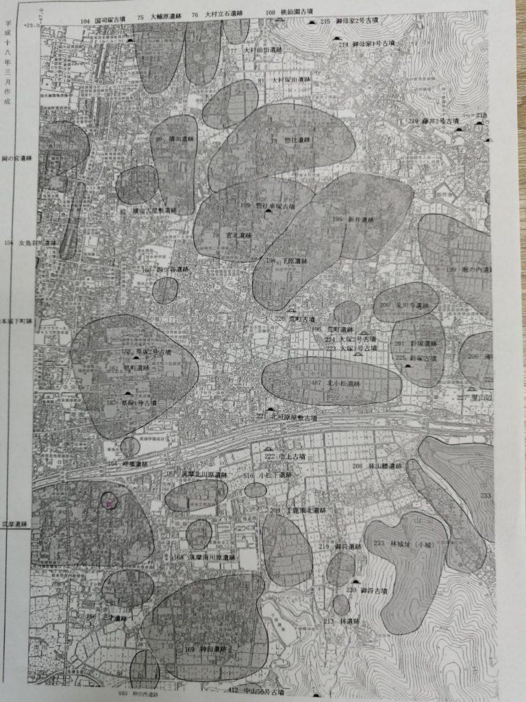松本市の遺跡地図