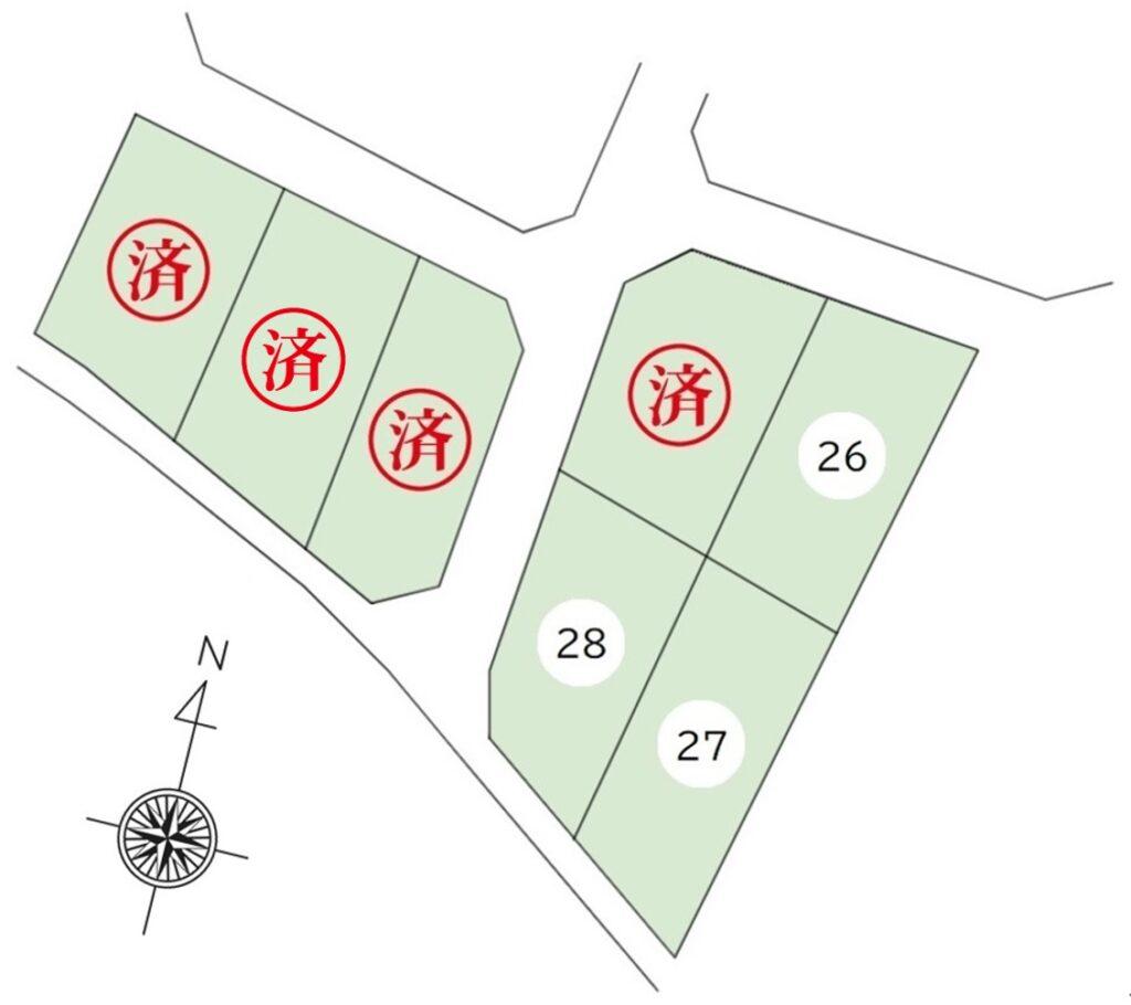 安曇野市豊科高家分譲地26,27,28号地販売中