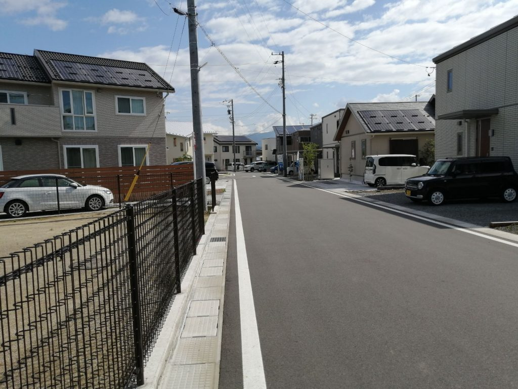 松本市沢村のきれいに区画整理されたスマートハイムシティ
