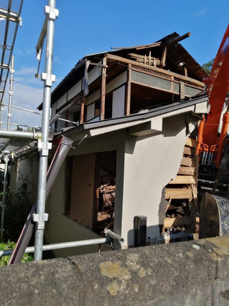 住宅の解体現場