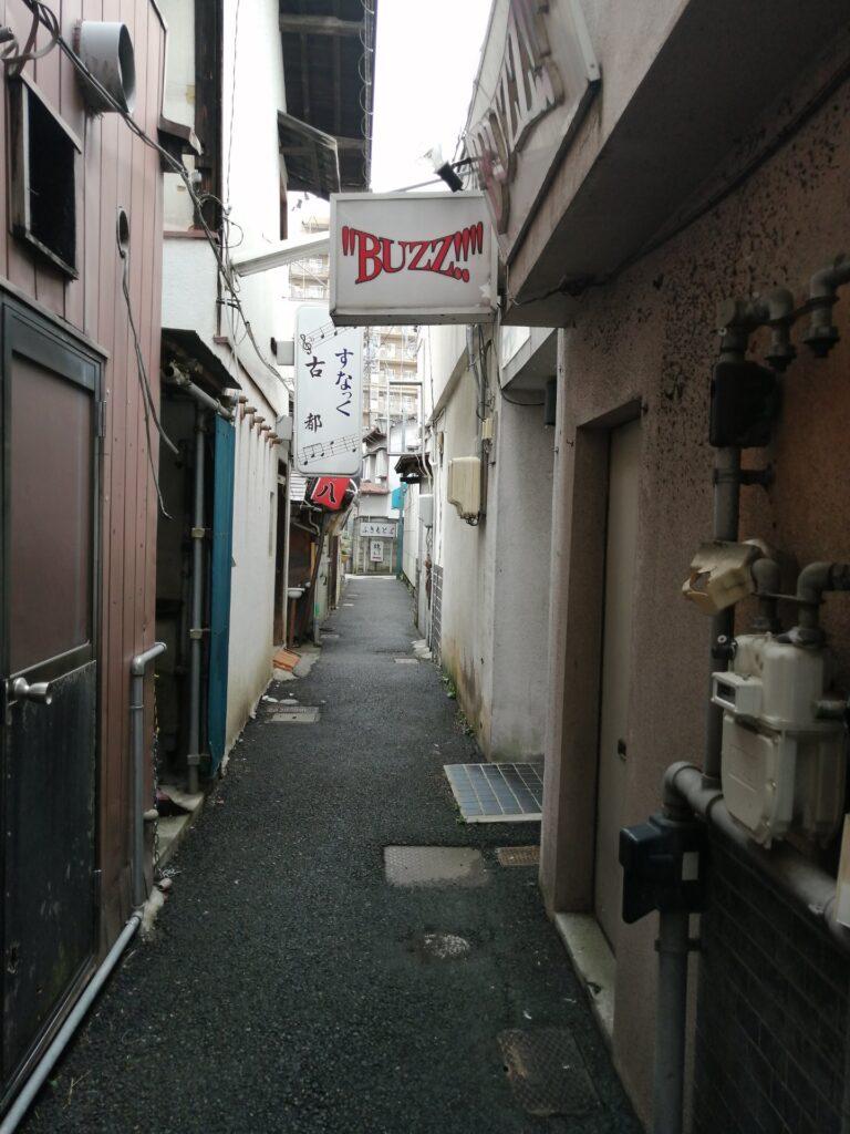 雰囲気のある松本市の旧歓楽街