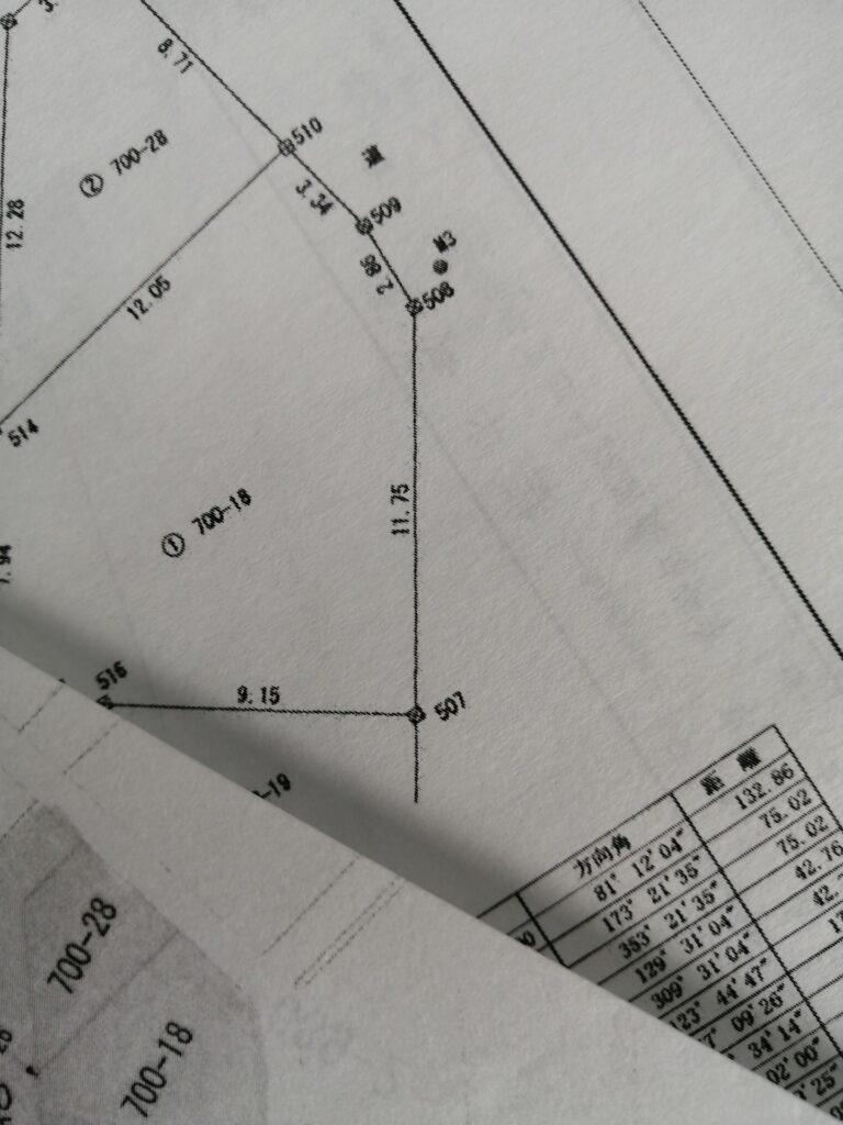 土地の測量図