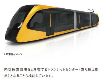 LRT車両のイメージ図