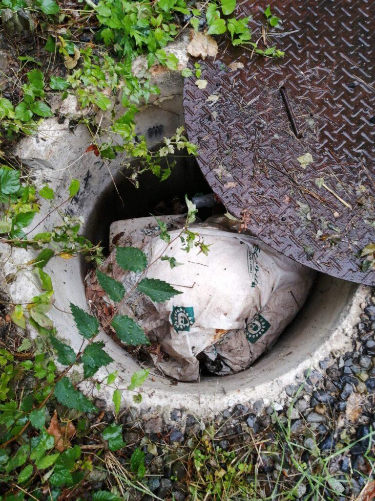 物件がくみ上げている井戸