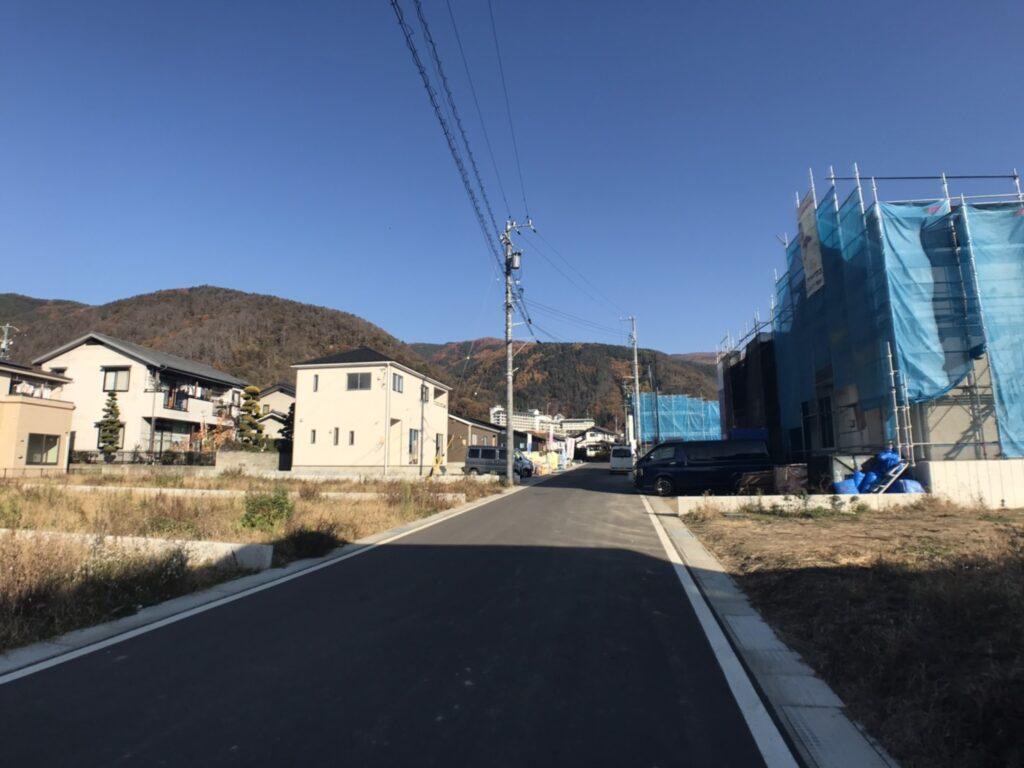 山並みが見える松本市の分譲地「イーストヒル山辺」