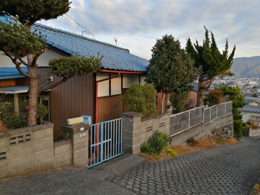 松本市宮渕にある眺めのいい中古住宅
