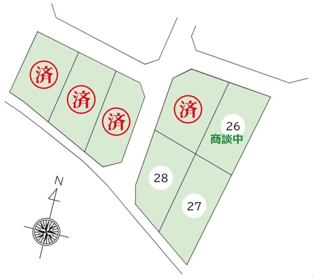 豊科高家分譲地残り3区画26号商談中
