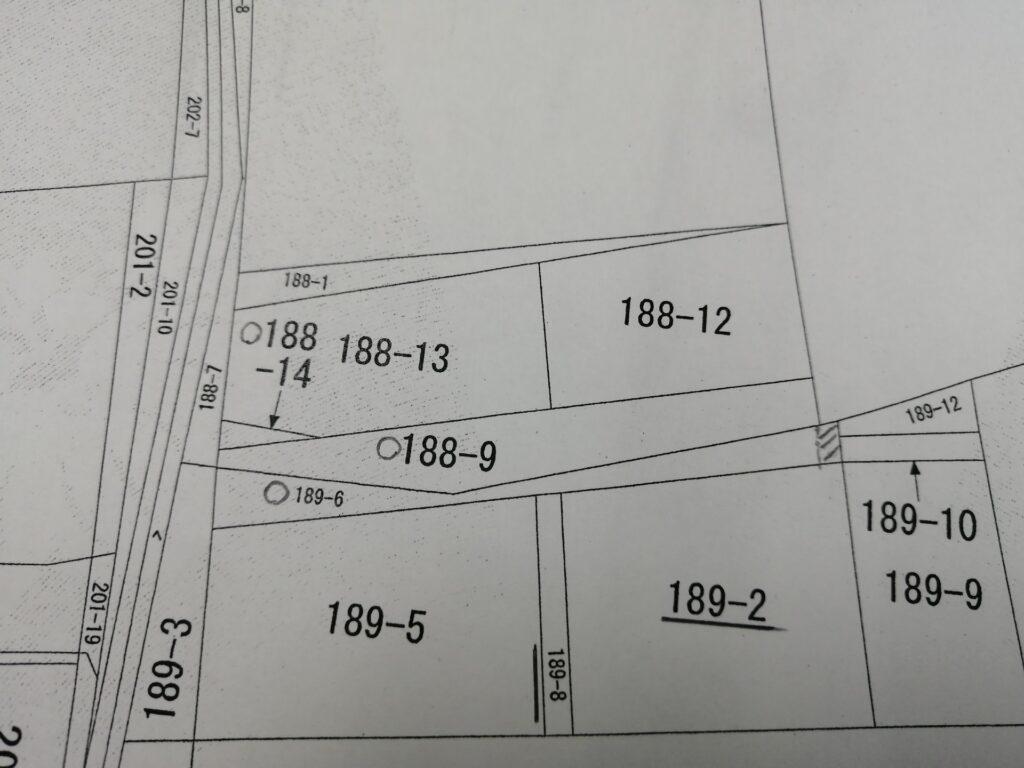 位置指定道路のある公図
