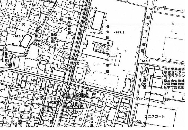 [都市計画図]太い二重線が都市計画道路です
