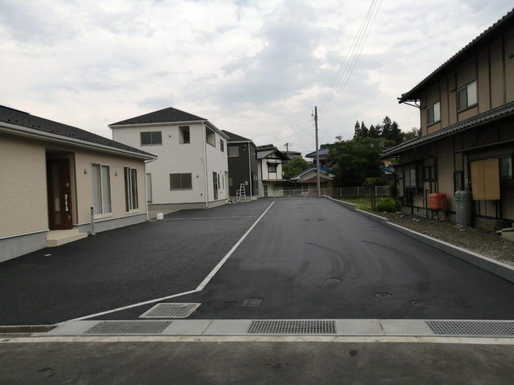 松本市波田の新築分譲住宅地