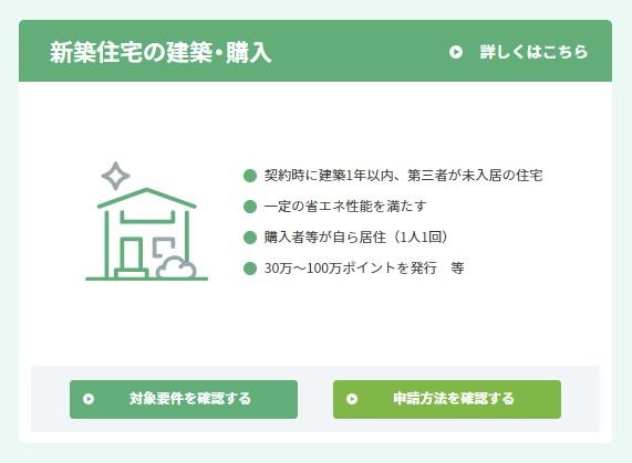 グリーン住宅ポイント(新築住宅)