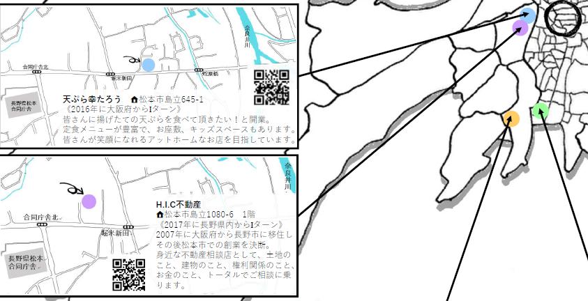 松本市の移住者が営むお店MAP