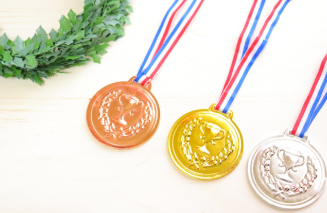 金銀銅メダルの写真