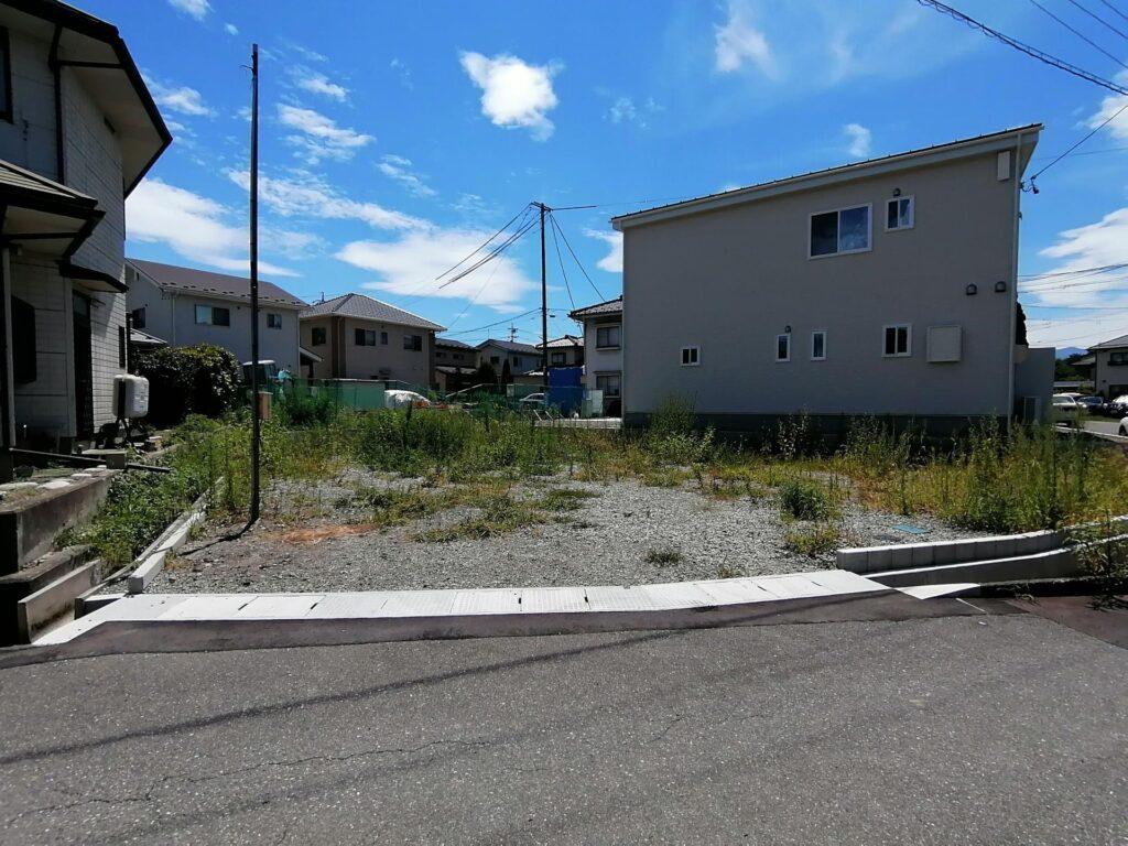 松本市笹部の建売住宅建築予定地