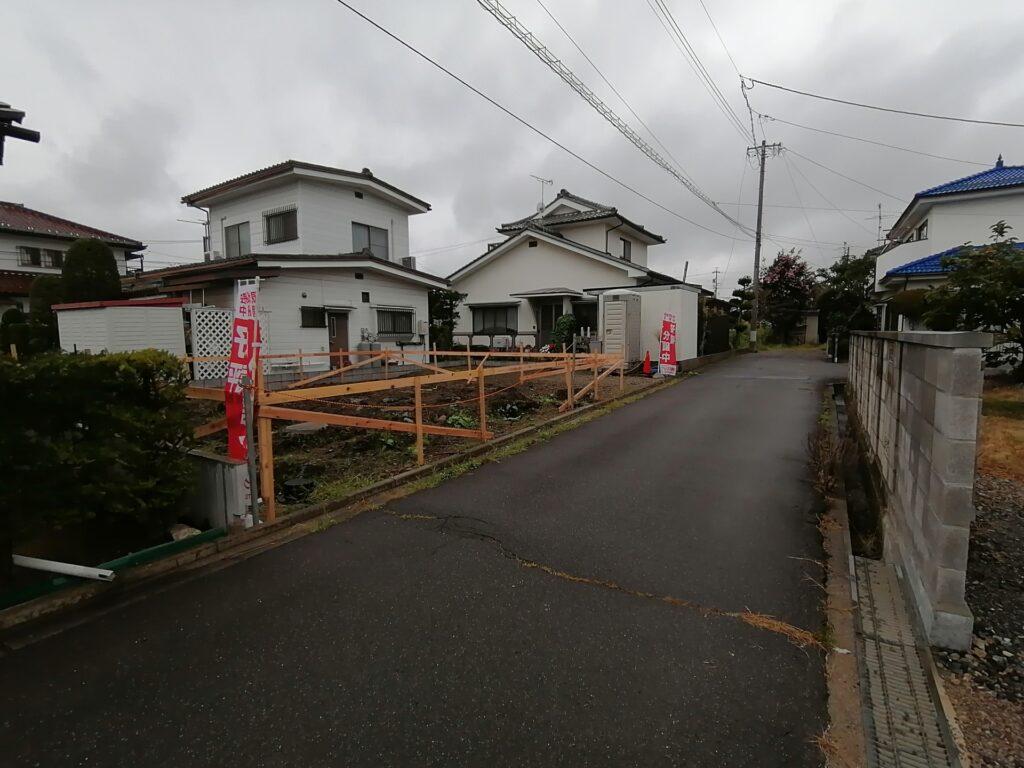 松本市神林の新築分譲住宅建築現場