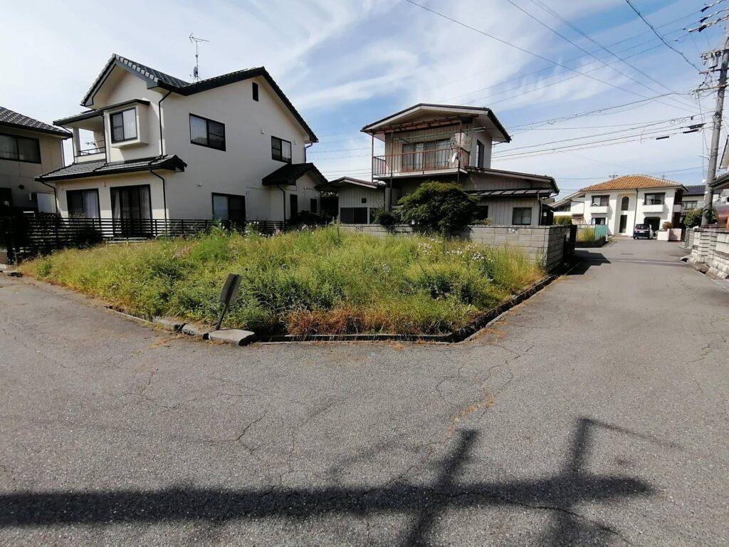 松本市新築建売住宅建築予定の東南角地