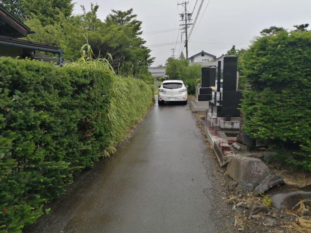 松本市今井の中古再生住宅への道